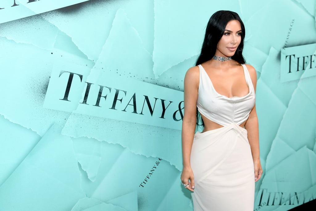 Kim Kardashian White Dress and Tiffany & Co. Choker 2018