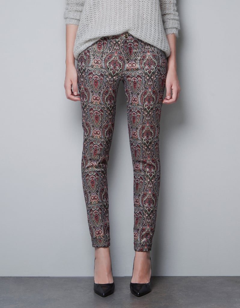Zara Metallic Jacquard Trousers ($50, originally $70)