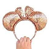 Rose Gold Sequin Minnie Ears ($17)