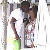 The couple was seen smooching on their yacht during a French vacation in September 2012.