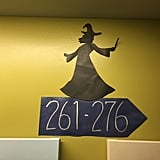 """. . . witches on the other. I modeled the silhouettes off restroom signs at The Wizarding World of Harry Potter."""