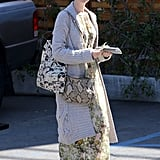 Anne Hathaway Emerges Following Her Oscars Dress Apology