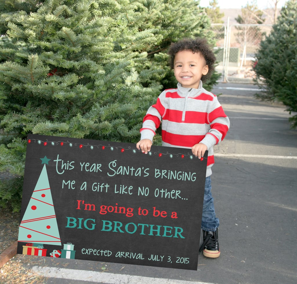 Personalized Christmas Big Brother Sign | Cute Holiday Pregnancy ...