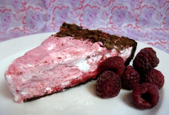 Frozen Raspberry Cream Pie