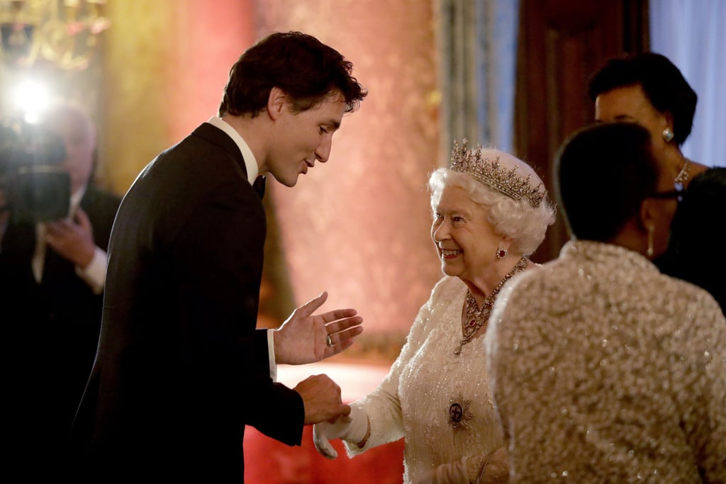 The Queen Hosts Justin Trudeau (and Others)