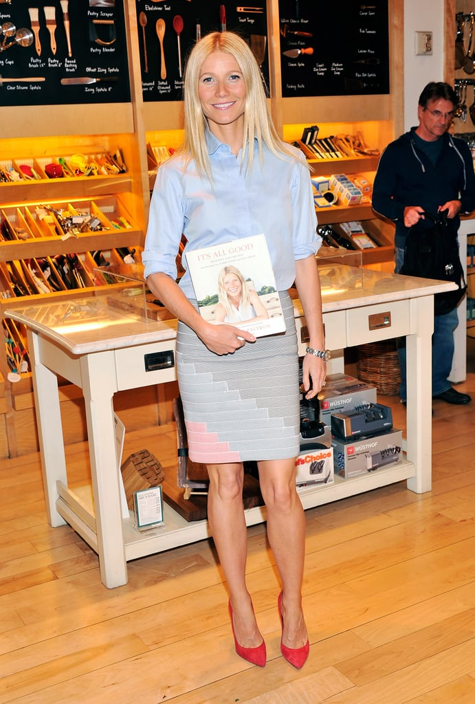 Gwyneth Paltrow continued her publicity trail for her new cookbook, It's All Good, in New York on April 9.