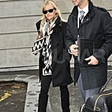 Reese Witherspoon left a Paris airport.