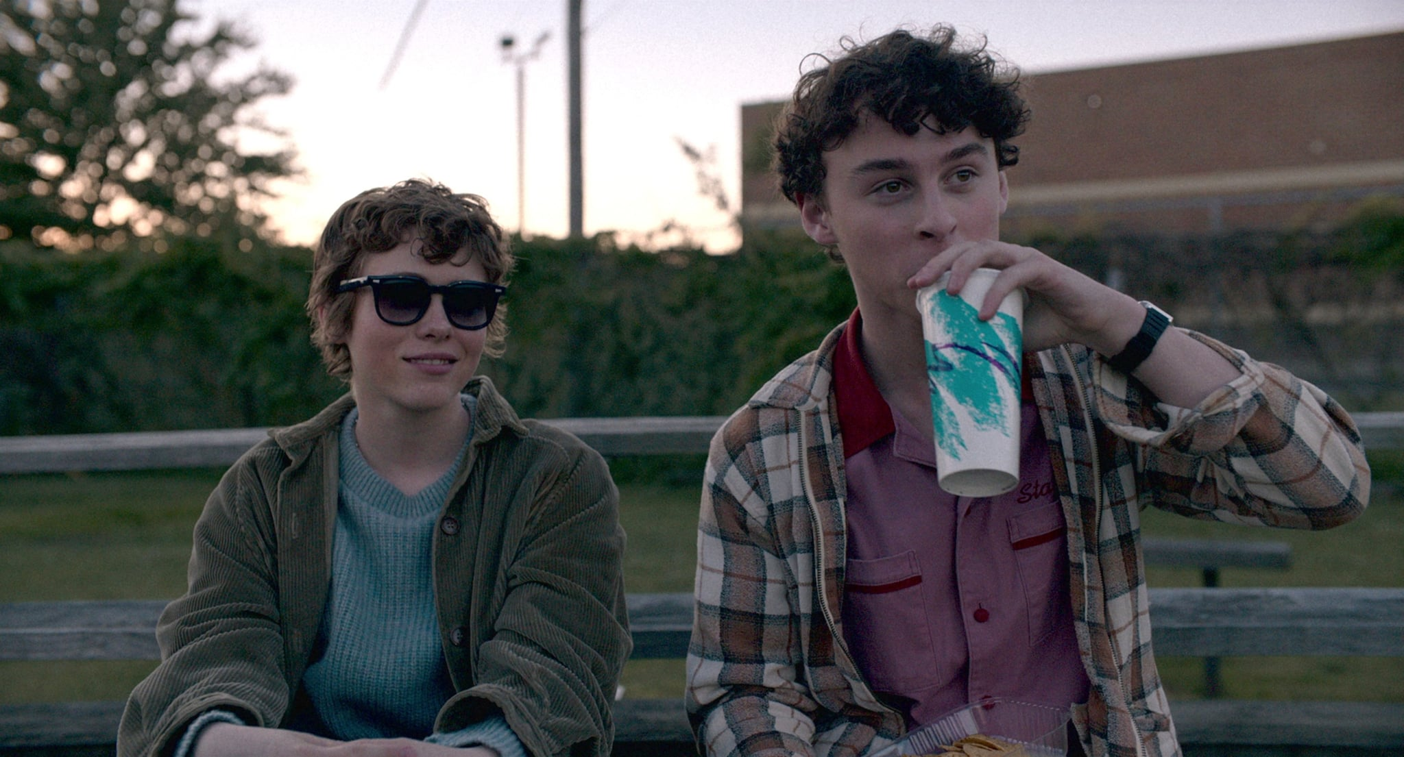 I AM NOT OKAY WITH THIS, from left: Sophia Lillis, Wyatt Oleff, (Season 1, Episode 102, aired Feb. 26, 2020). photo: Netflix / Courtesy Everett Collection