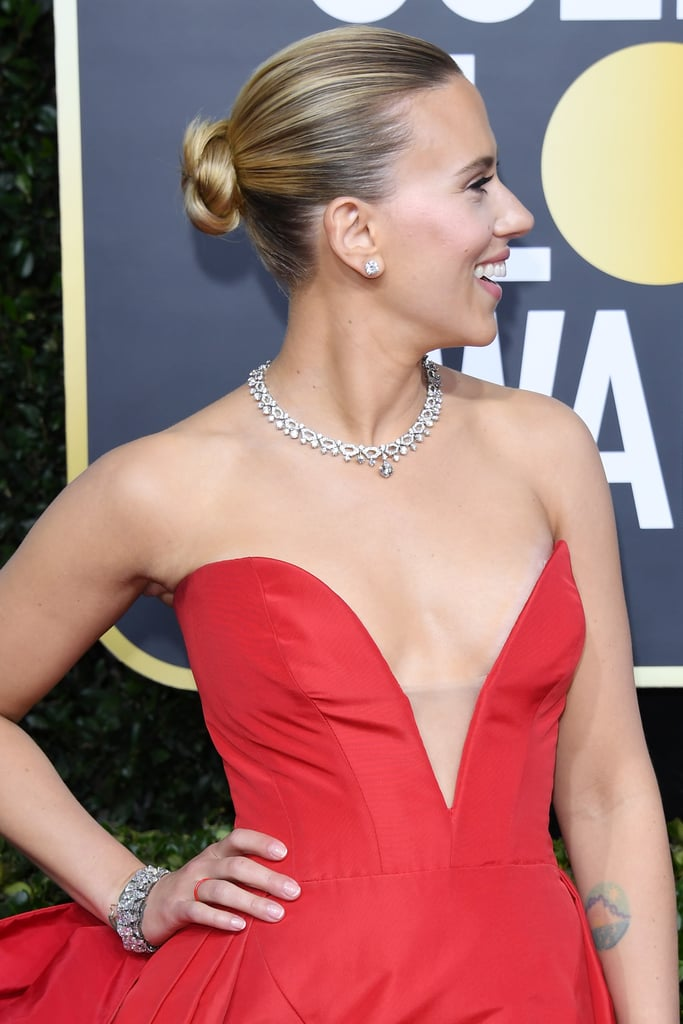 Scarlett Johansson's French Manicure at the 2020 Golden Globes
