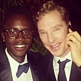 Lupita Nyong'o's brother snapped a post-Oscars pic with Benedict Cumberbatch while they were calling a ride home. Source: Instagram user nyongolaflame