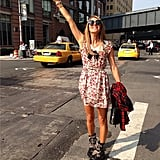Taxi, please! Even Anna Dello Russo had to hail her own cab. Source: Instagram user anna_dello_russo