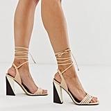 ASOS DESIGN Hummer Strappy Block Heeled Sandals