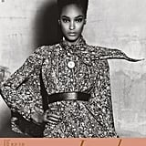 Jourdan Dunn's Spring 2011 showcard