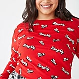 Naughty or Nice Plus-Size Graphic Thermal Top