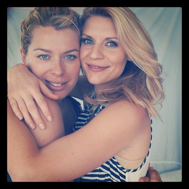 Amanda de Cadenet shared a snap of herself with Claire Danes during a photo shoot. Source: Instagram user amandadecadenet