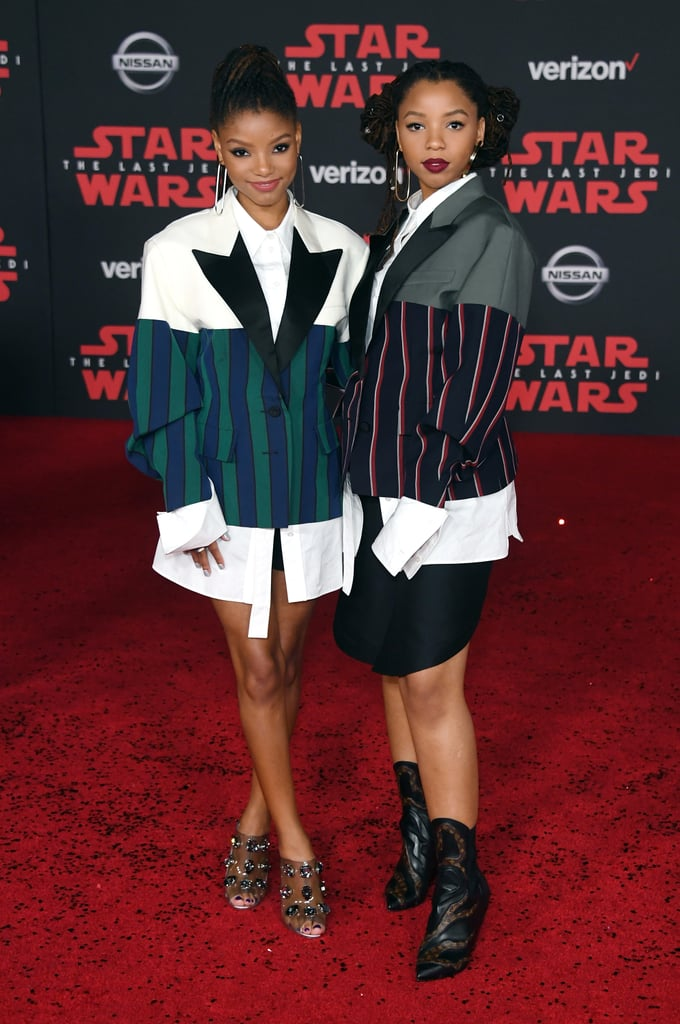 Chloe x Halle Wearing Louis Vuitton at the Star Wars: The Last Jedi Premiere