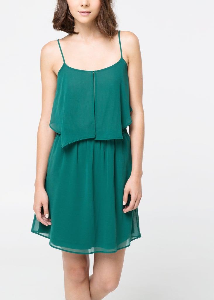 Mango Ruffled Chiffon Dress ($50)