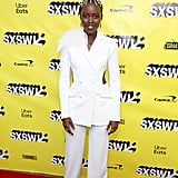 Lupita Nyong'o Hair at Us SXSW Premiere