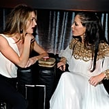 Rosie Huntington-Whiteley and Georgina Chapman had a lot to talk about at the Weinstein Company's Golden Globes after party.