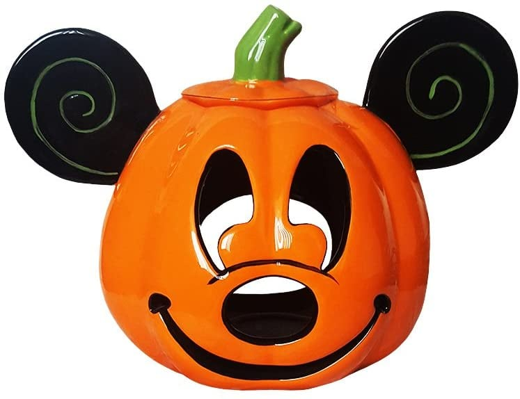 Mickey Mouse Halloween Jack-o'-Lantern Pumpkin Votive