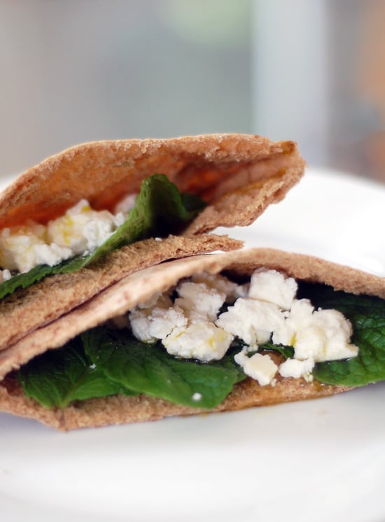 Pita Sandwich With Feta Cheese and Mint