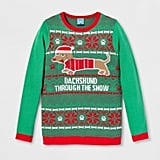 Adult Dachshund Through the Snow Ugly Sweater