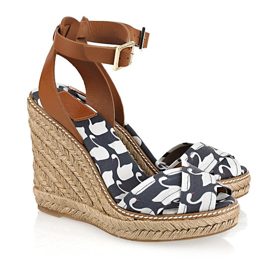 Tory Burch Swan Print Wedge Sandal, $175