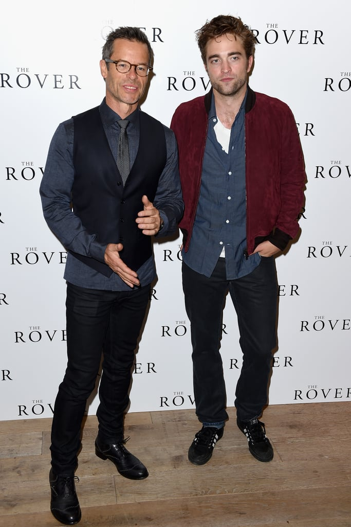 Guy Pearce and Robert Pattinson took their press tour for The Rover to London with a photocall on Wednesday.