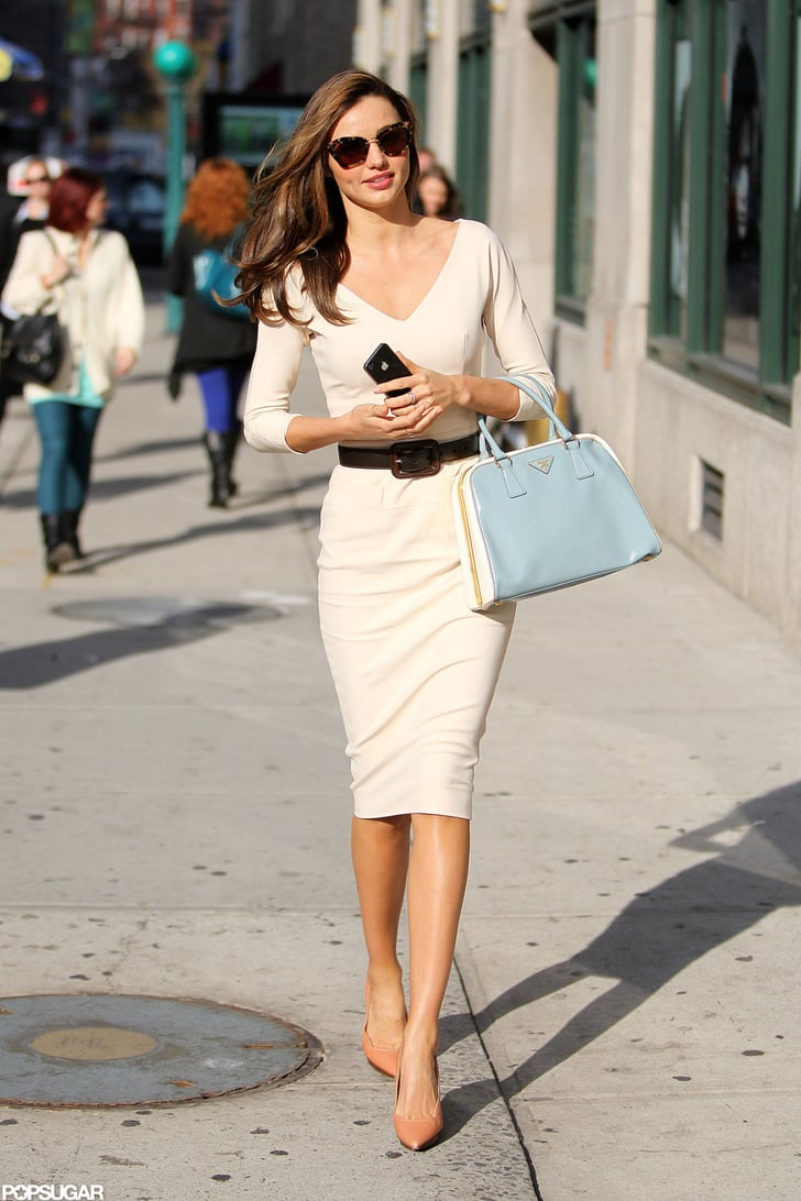 Miranda Kerr Wears A Tight White Dress In Nyc Pictures