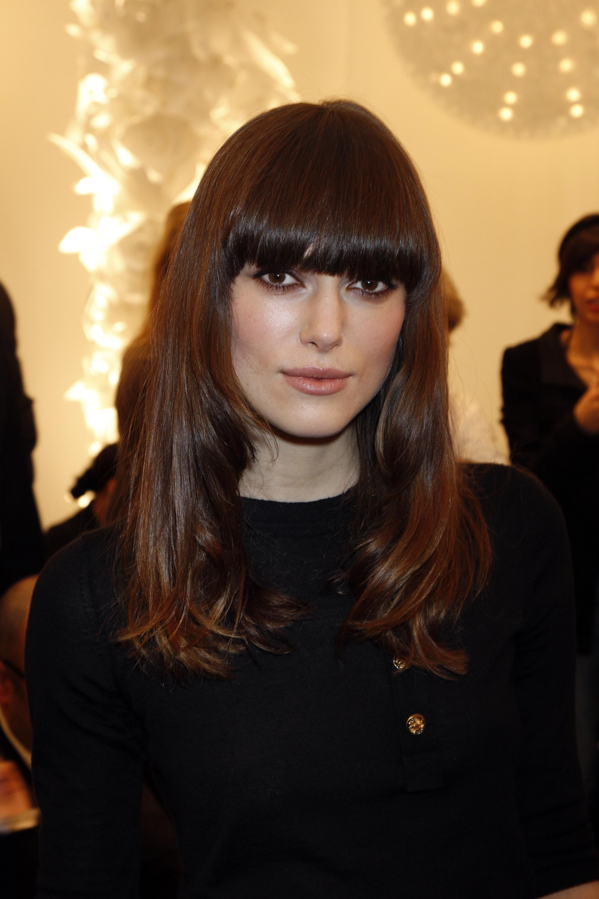 Photos Of Keira Knightley And Karl Lagerfeld At Chanel