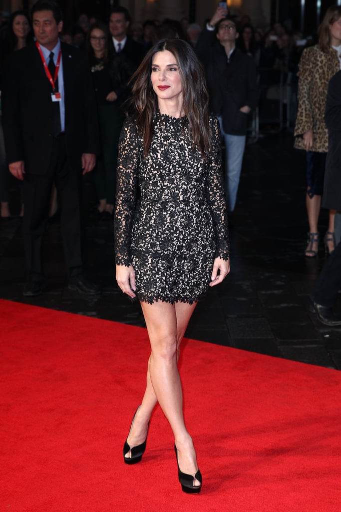 Sandra Bullock walked the red carpet at the London Film Festival premiere of Gravity.