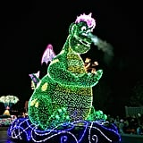 Another photo of the DreamLights parade —Puff the Magic Dragon!