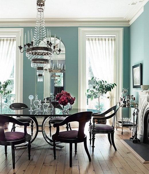 Coastal-Blue Dining Rooms