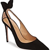 Meghan's Exact Aquazzura Deneuve Bow Pointy Toe Pump in Black