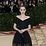 Lily Collins Makeup at the Met Gala 2018
