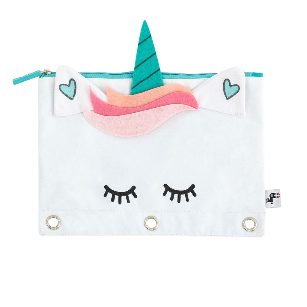 yoobi unicorn zipper binder pencil case best back to school deals