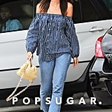 Emily Ratajkowski Was Seen Wearing an Off-the-Shoulder Blouse
