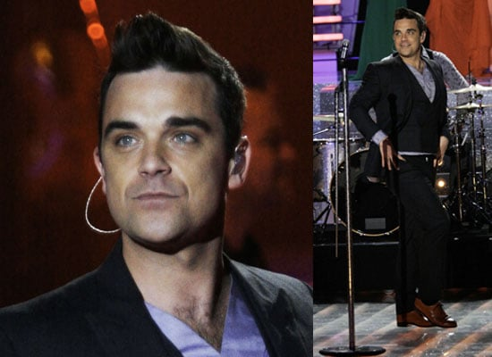 Photos of Robbie Williams at Miss France 2010
