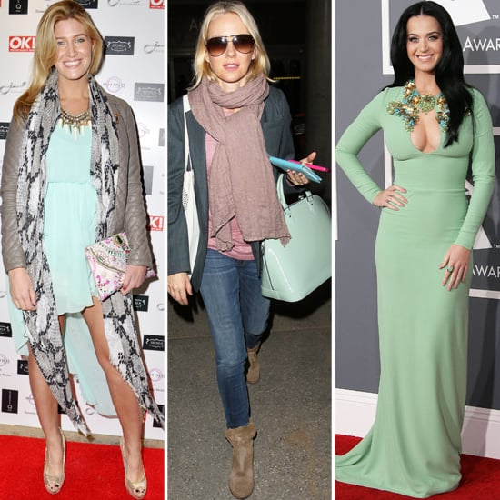 Cheska Hull, Katy Perry and Naomi Watts Heart Spearmint