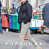 Zac Efron walked around set in NYC.