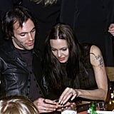 James Haven and Angelina Jolie went to the afterparty for Tomb Raider in July 2001 in LA.