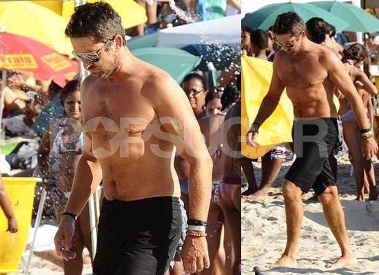 Photos of Shirtless Gerard Butler in Rio With Nicole Scherzinger in Bikini and Madonna