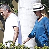 George Clooney led the way for Stacy Keibler.