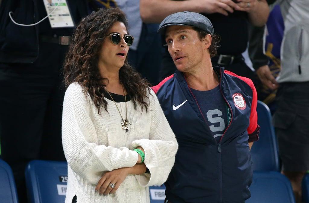 Matthew McConaughey and Camila Alves at Olympics August 2016