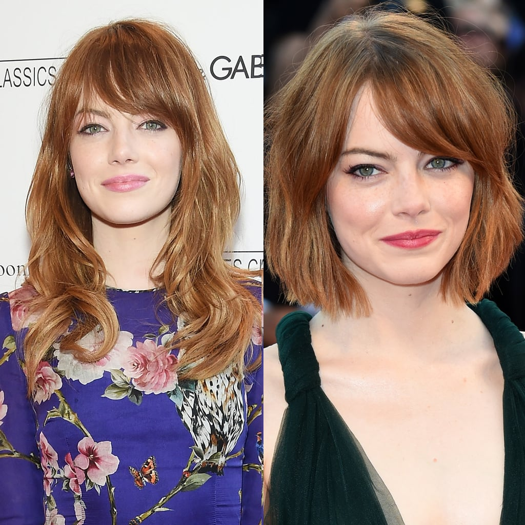 Emma Stone Celebrities Who Cut Their Hair Short Hairstyle