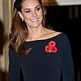 The Duchess of Cambridge in a Sparkly Black Zara Headband