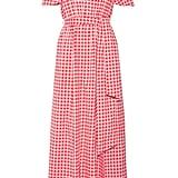 A Gingham-Print Dress