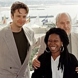 Tim Robbins and Whoopi Goldberg attended a photocall with director Robert Altman in 1992.