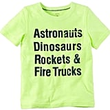 Astronauts and Dinosaurs Graphic Tee