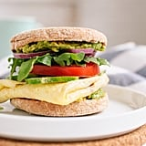 Avocado and Egg English Muffin Sandwich